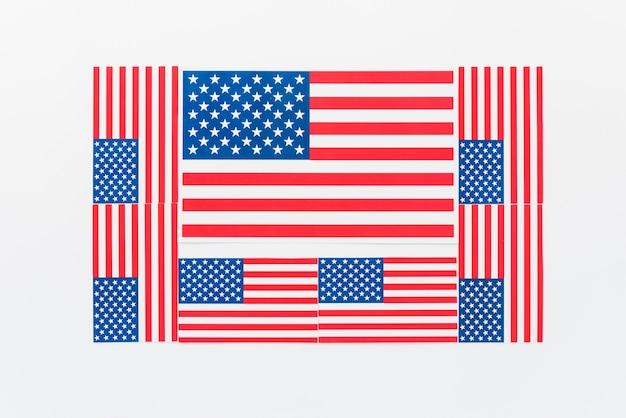 Diverse bandiere degli stati uniti Foto Gratuite