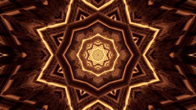 Diverse luci che formano motivi circolari dietro uno sfondo nero Foto Gratuite