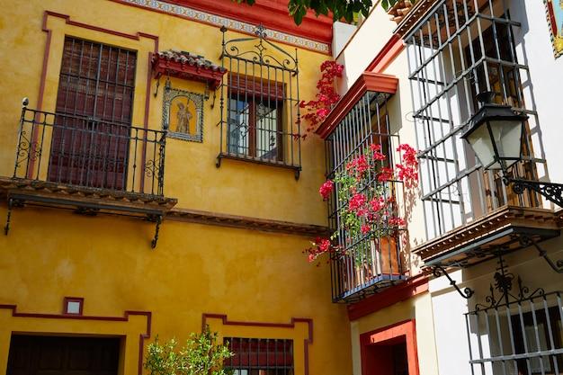 Sevilla old town near calle agua vida st spain Premium Photo