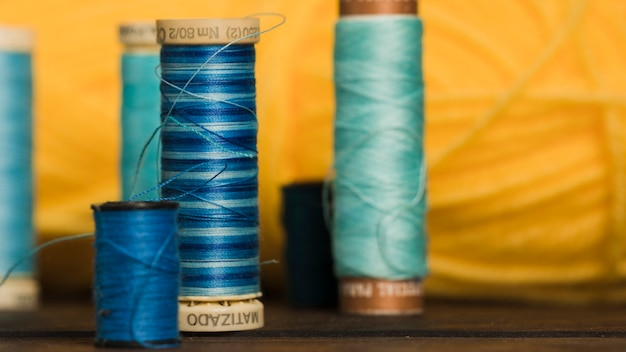 Sewing thread reels Free Photo