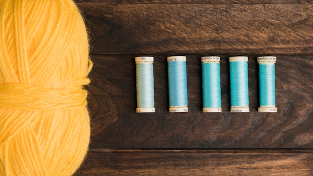 Sewing thread reels Free Photo