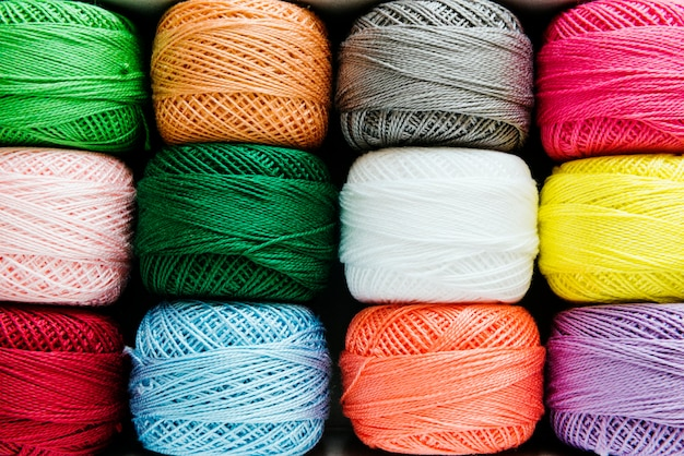 Sewing threads closeup multicolored Free Photo