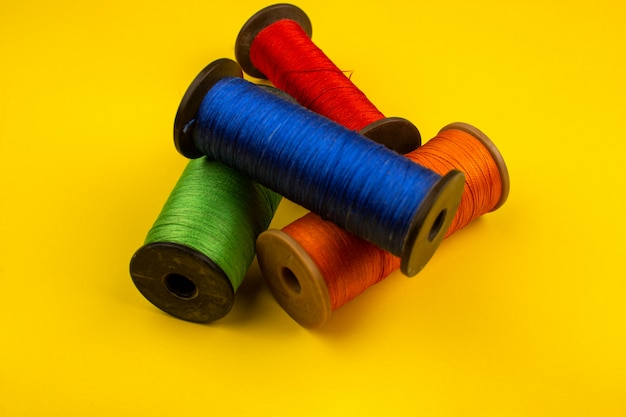 Sewing threads colorful Free Photo