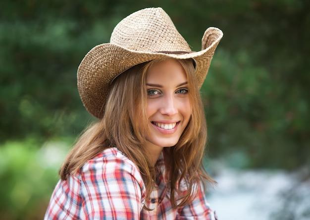 Sexy cowgirl. Premium Photo