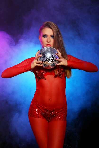 Sexy dancer in red Free Photo