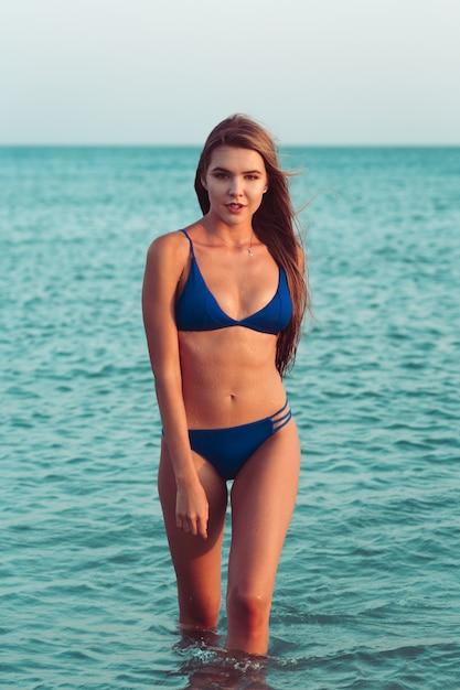 Sexy girl in a bikini Premium Photo