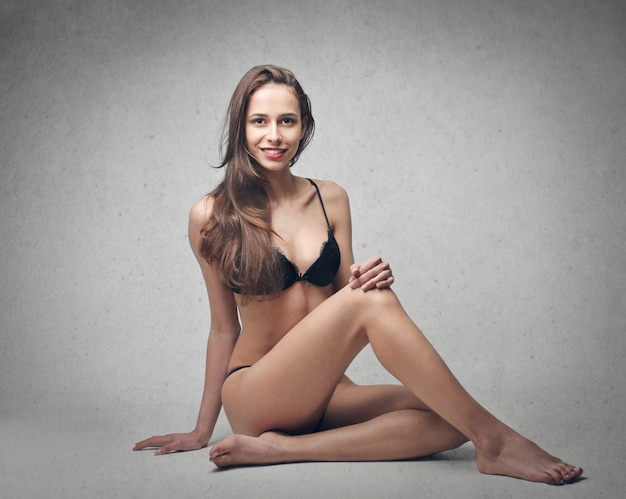 Sexy girl in lingerie Premium Photo