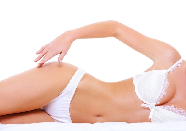 매혹적인 완벽한 여성의 몸에 섹시한 란제리 무료 사진