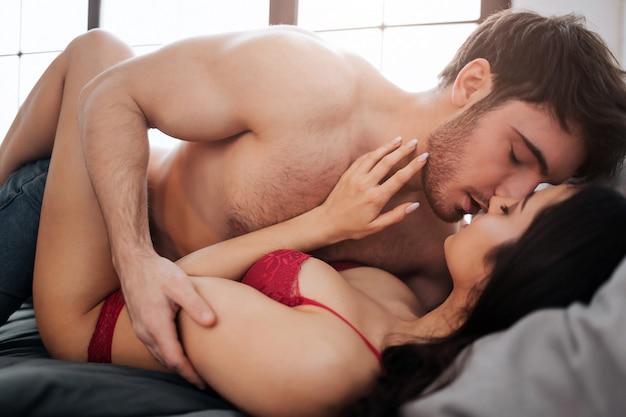 Kissing Naked Female Body