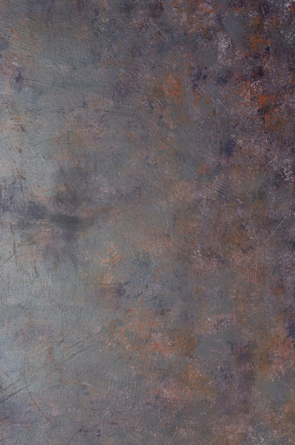 Shabby old gray-rusty metal background with texture. Premium Photo