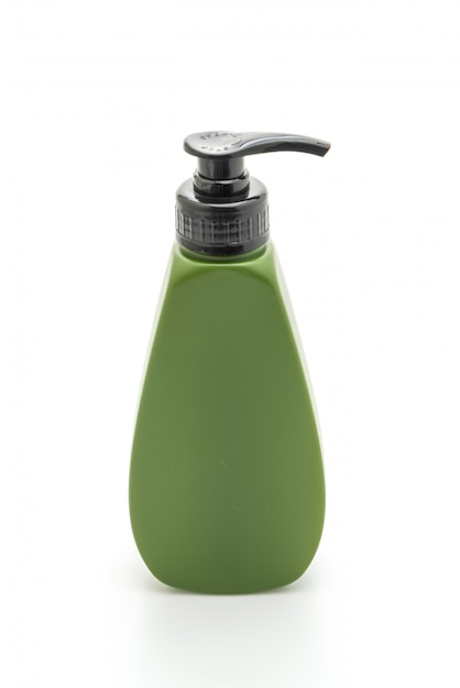 Shampoo or hair conditioner bottle on white Premium Photo