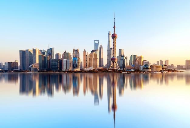 Shanghai city skyline Premium Photo
