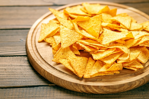 Sharp mexican nachos chips. Premium Photo