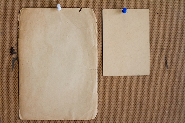 Sheets of old paper. Premium Photo
