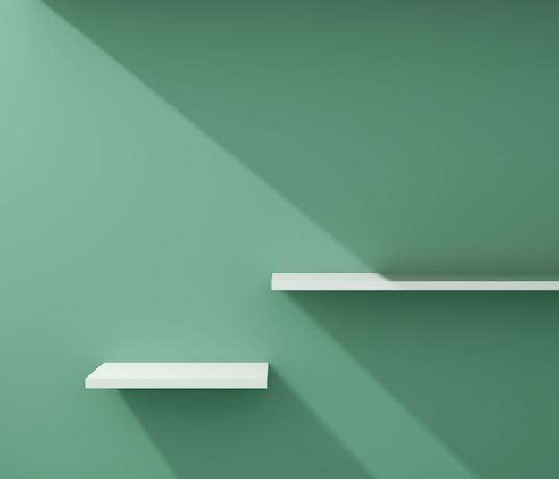 The shelf for product presentation. Premium Photo
