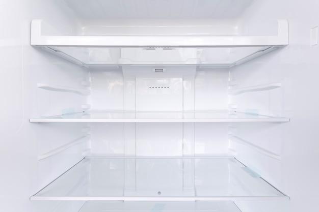Shelves in the refrigerator Premium Photo