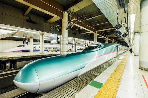 Shinkansen bullet train in station Free Photo