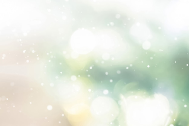 Shiny abstract bokeh background with snow Premium Photo