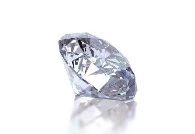 白い表面に光沢のあるダイヤモンド Premium写真