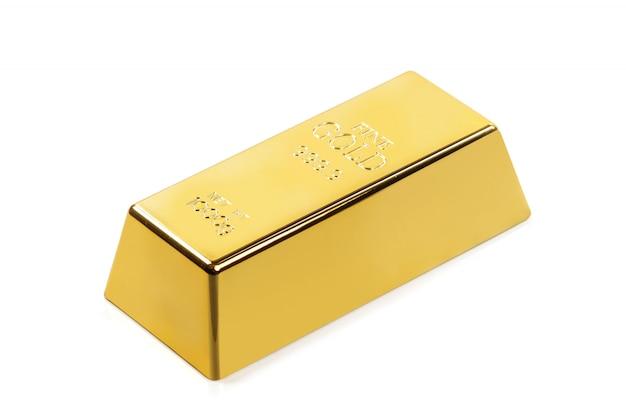 Shiny gold bar Premium Photo