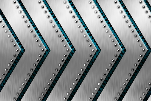 Shiny metal with arrow pattern background for template Premium Photo
