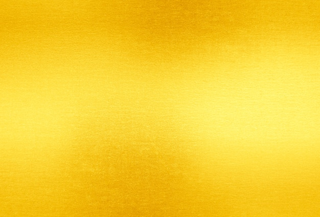 Shiny Yellow Leaf Gold Foil Texture Background Photo
