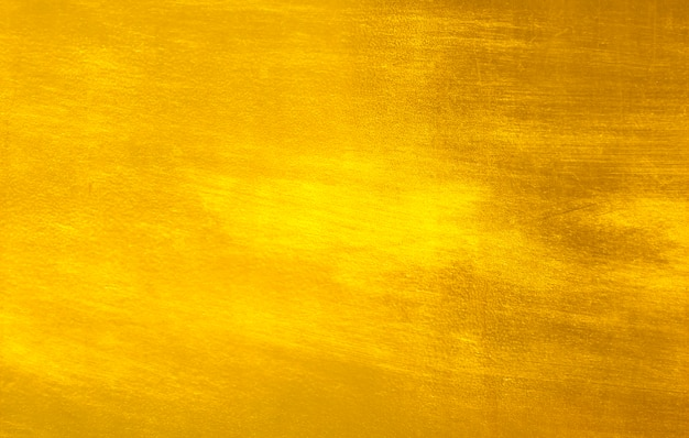 Shiny yellow leaf gold foil Premium Photo