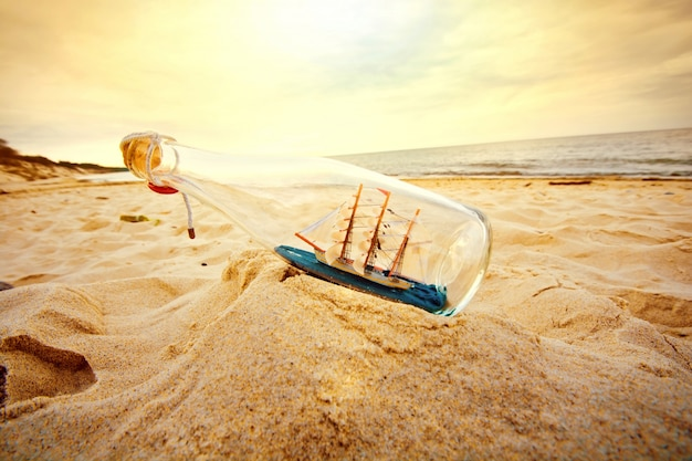 Ship in the bottle Free Photo