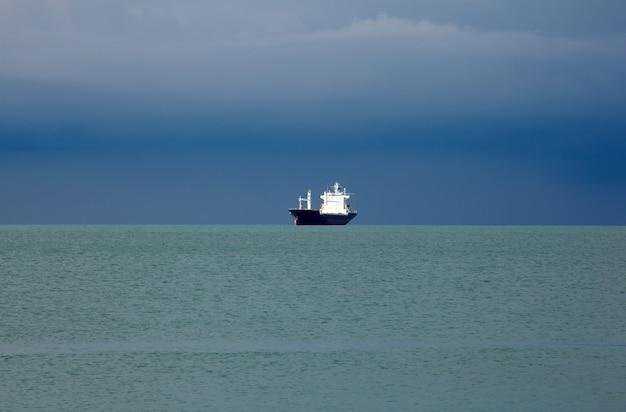 Ship on the sea, trieste Premium Photo