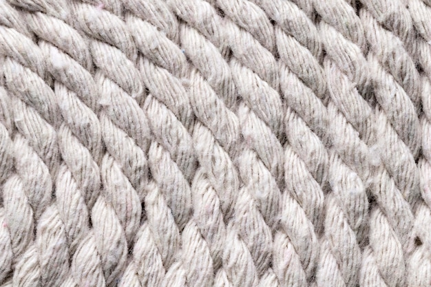 船の白いロープの背景 無料写真
