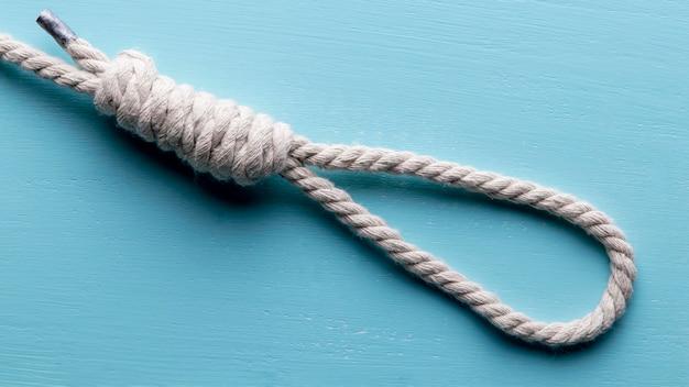 船の白いロープ釣り結び目 無料写真