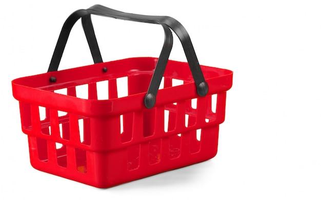 Shopping basket on white Premium Photo