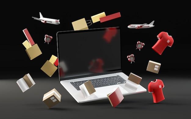 Evento venerdì nero dello shopping con il computer portatile Foto Gratuite