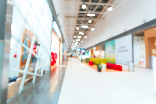 Shopping mall blurred for background Premium Photo