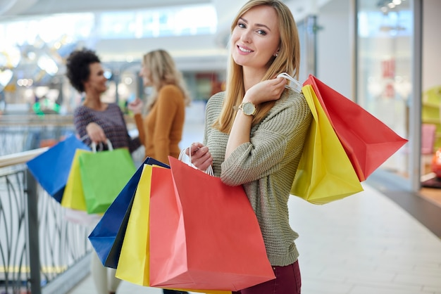 Shopping mall is a dreamed place for women Free Photo