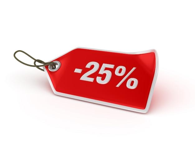 Shopping price tag -25% Premium Photo