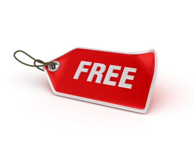 Shopping price tag free Premium Photo