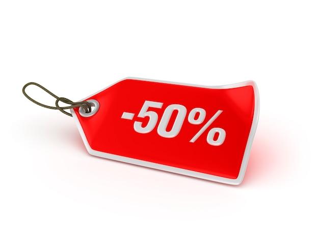 Shopping tag - 50% Premium Photo
