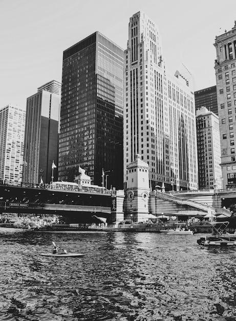 シカゴの高層ビルのショット 無料写真