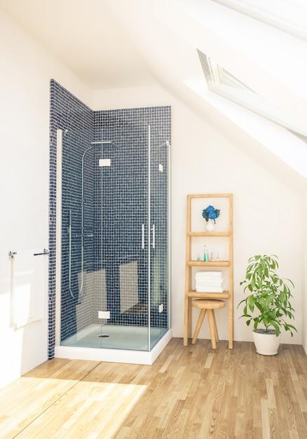 Душ в ванной Premium Фотографии