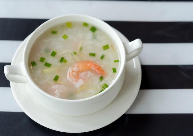 Shrimp porridge Premium Photo