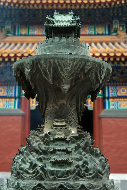 Shrine at the lama temple, lama temple, dongcheng district, beijing, china Premium Photo
