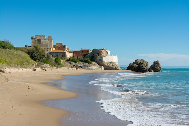 Sicilian castles. falconara castle, sutera Premium Photo