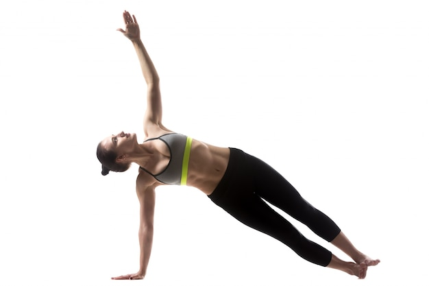 Side plank pose Free Photo