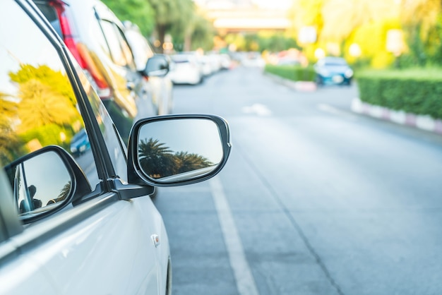 Side rear-view mirror on a modern car Free Photo