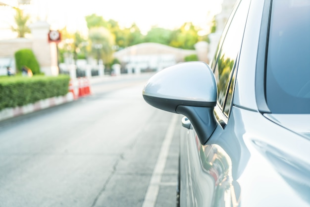 Side rear-view mirror on a modern car Free Photo
