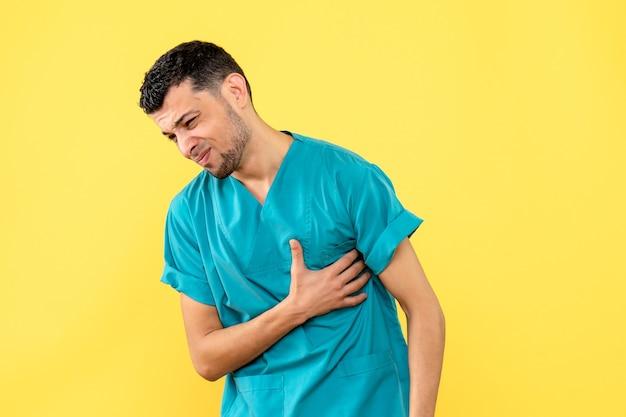 Вид сбоку высококвалифицированный специалист, врач подскажет, чего нельзя делать при проблемах с сердцем. Бесплатные Фотографии