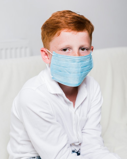 Side Face Photo With View Mask Sick Free Child