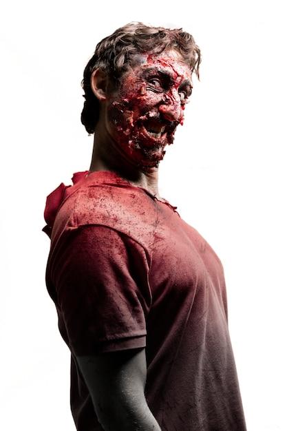 Sideways zombie Free Photo