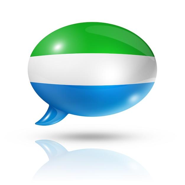 Sierra leone flag speech bubble Premium Photo